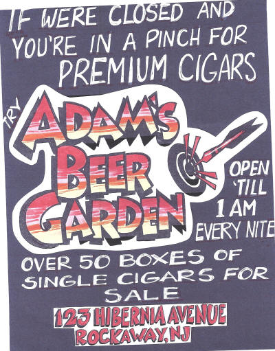 Cigars in a pinch after hours - go to Adams Beer Garden